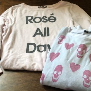 Wildfox size small and medium shirts both for $19